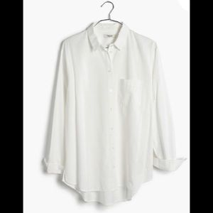NEW Drapey Boyshirt In Pure White size small